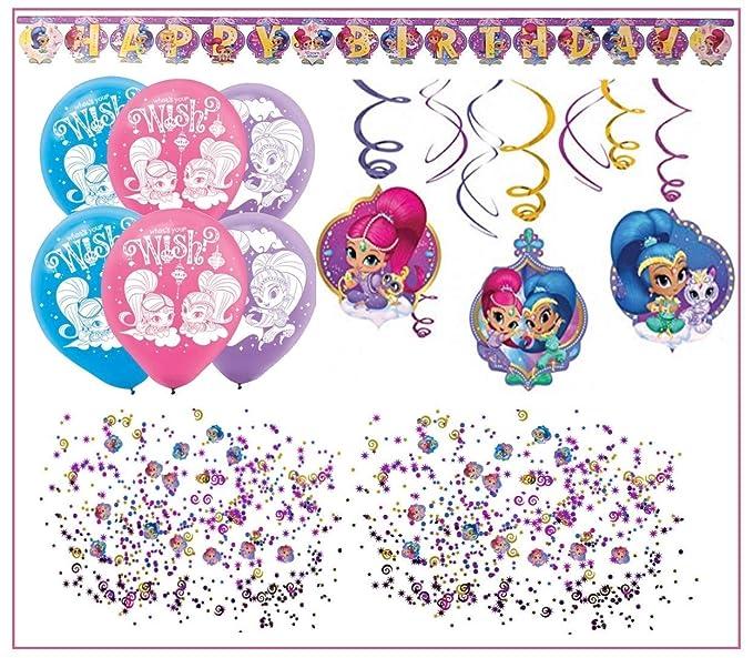 Libetui Shimmer y Shine Niños Cumpleaños Decoración Set ...