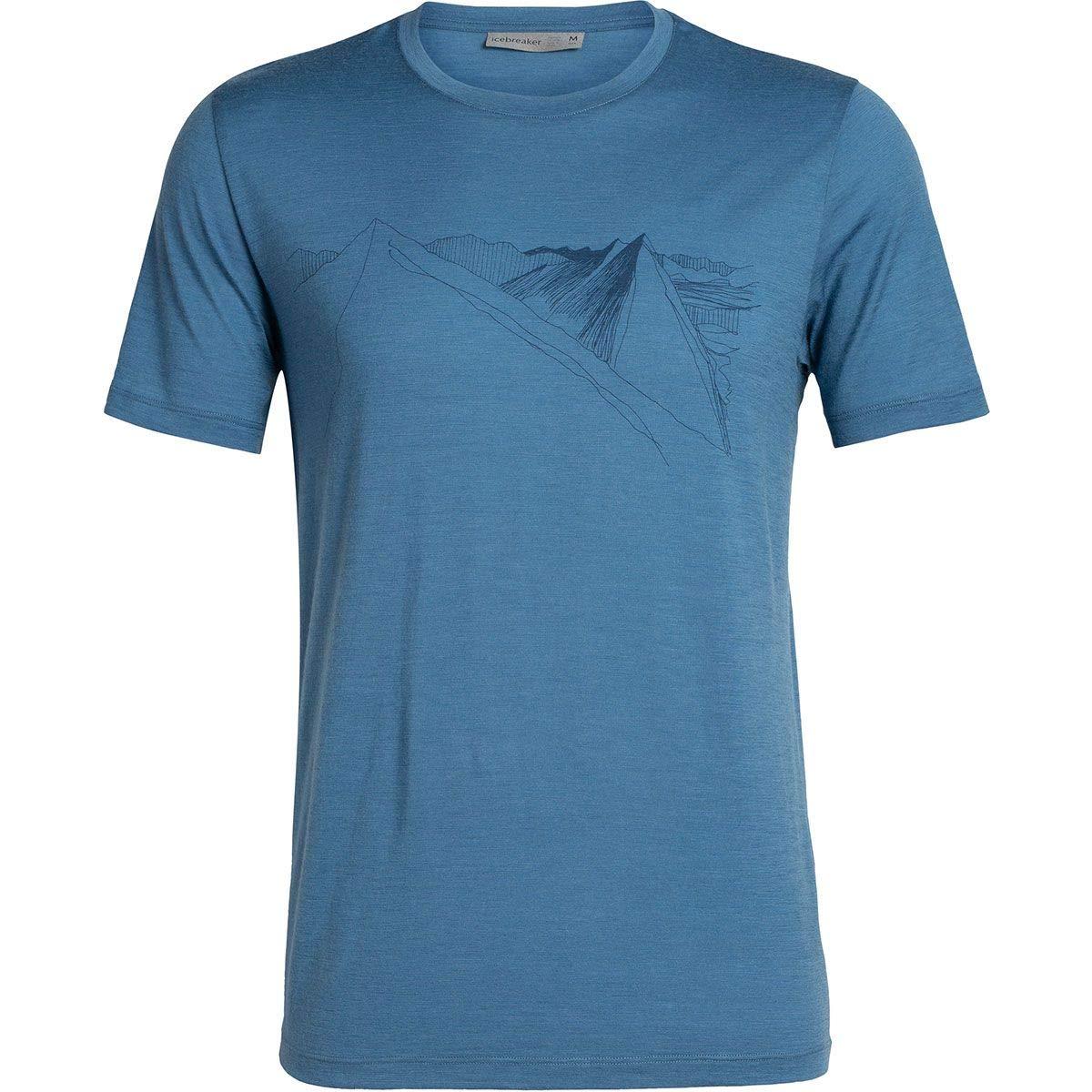 Icebreaker 150 Tech Lite Short Sleeve Crewe Shirt Glacial Lines T-Shirt Men