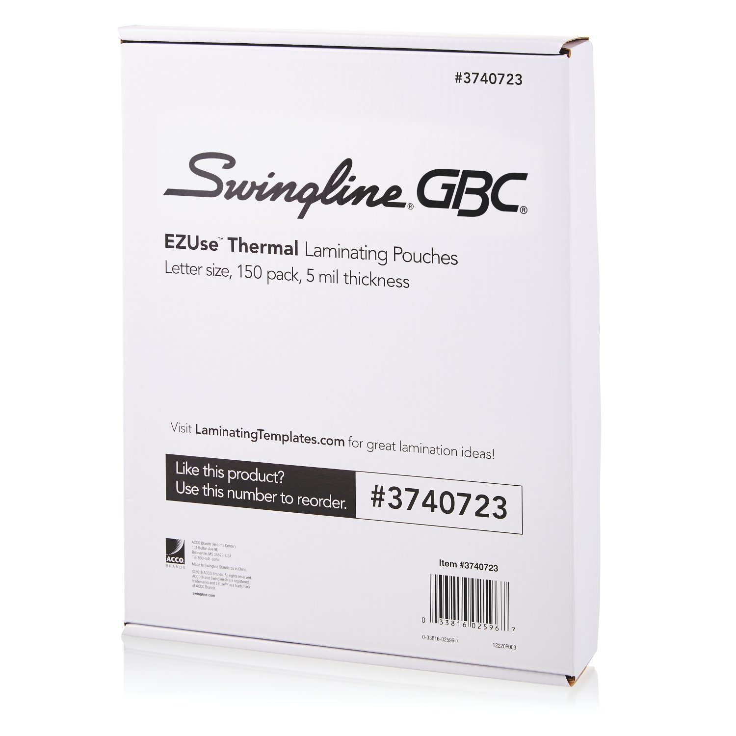 Swingline GBC Thermal Laminating Sheets/Pouches, Letter Size, Speed Pouch, 3 Mil, EZUse, 200-Count (3740726) ACCO Brands