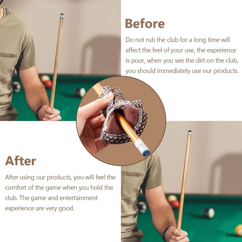 6 Stück tragbare Queue-Clips für Snooker Billard Pool Queue-Rack Gold