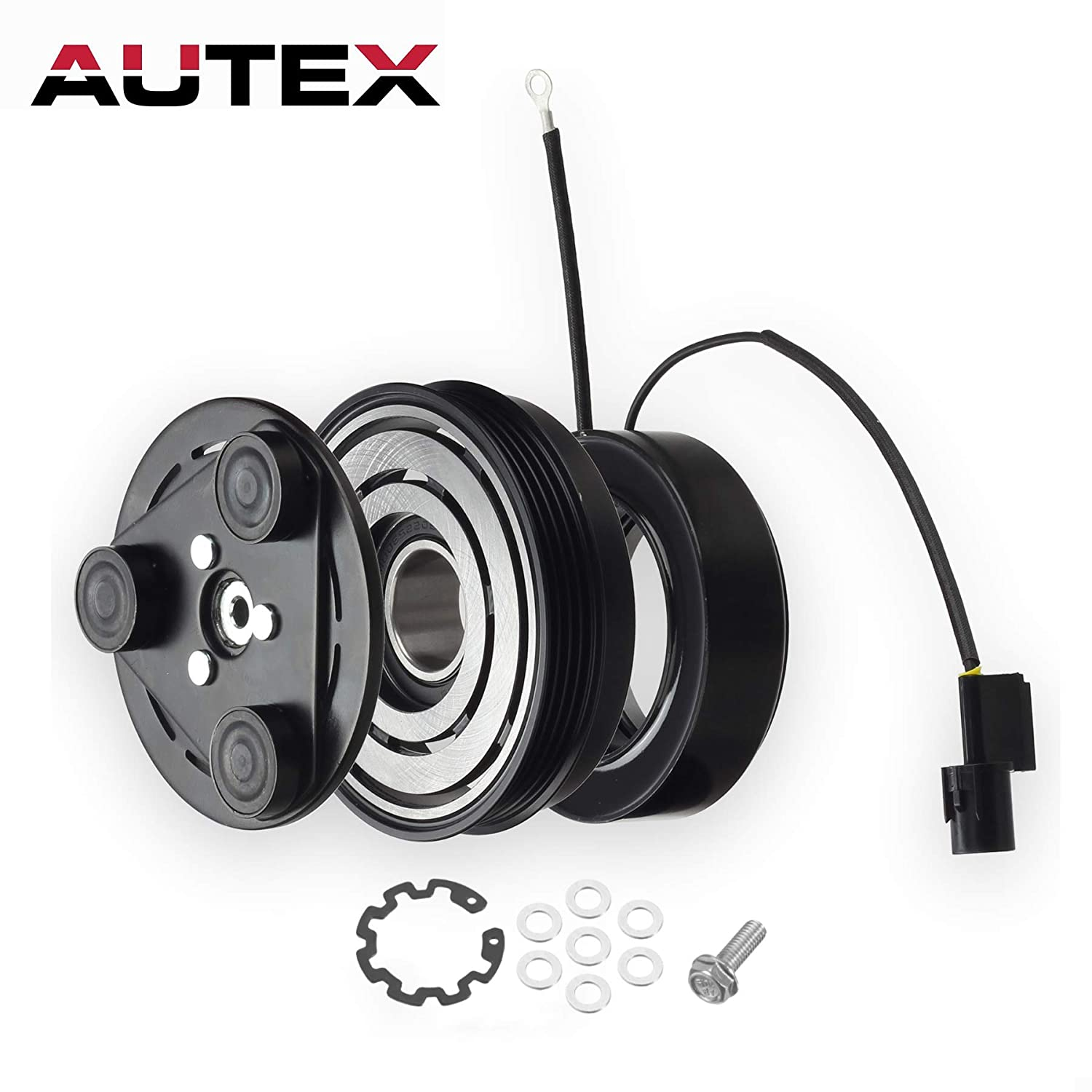 AUTEX AC A/C Compressor Clutch Coil Assembly Kit 977013E200 57190 977013E200RU Replacement for 2003 2004 2005 2006 Kia Sorento 3.5L