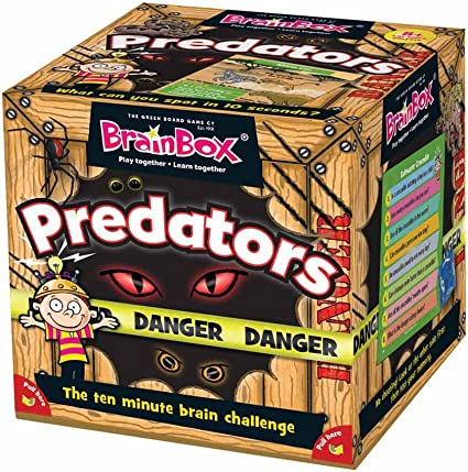BrainBox Predators Game by The Green Board Game Company: Amazon.es: Juguetes y juegos