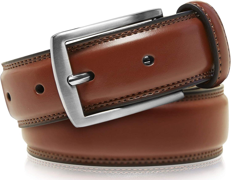 Genuine Leather Dress Belts For Men Jeans Designed in the USA Mens Belt For Suits Uniform Black Belt