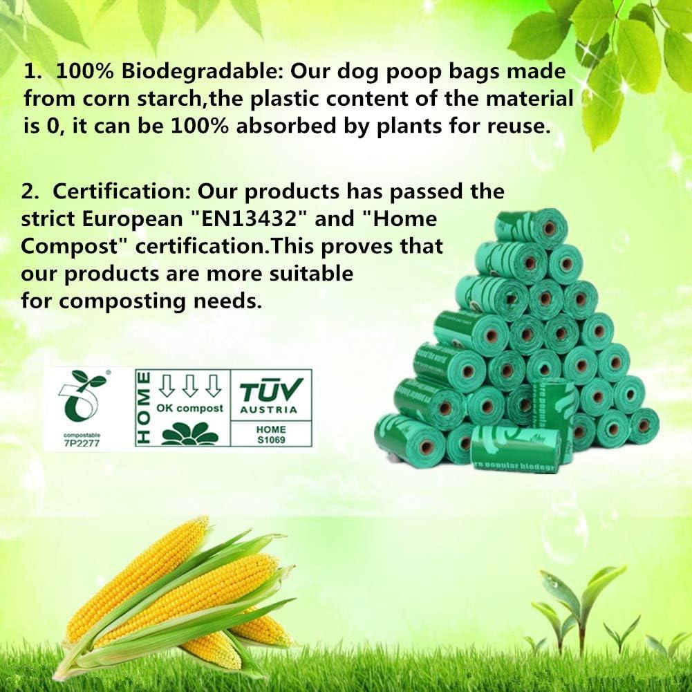 Cycluck 100% Biodegradables Bolsas de Basura Perros Extra Gruesa ...