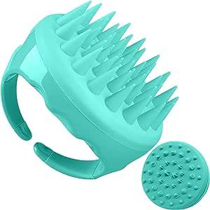 Soaab Shampoo Brush Scalp Massager Exfoliating Brush, Soft Silicone Brush with Body Brush Massage Brush Attachment (Green)