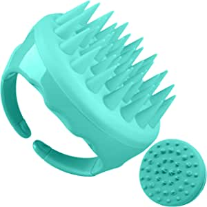 Soaab Shampoo Brush Scalp Massager Exfoliating Brush, Soft Silicone Brush with Body Brush Massage Brush Attachment (Green)