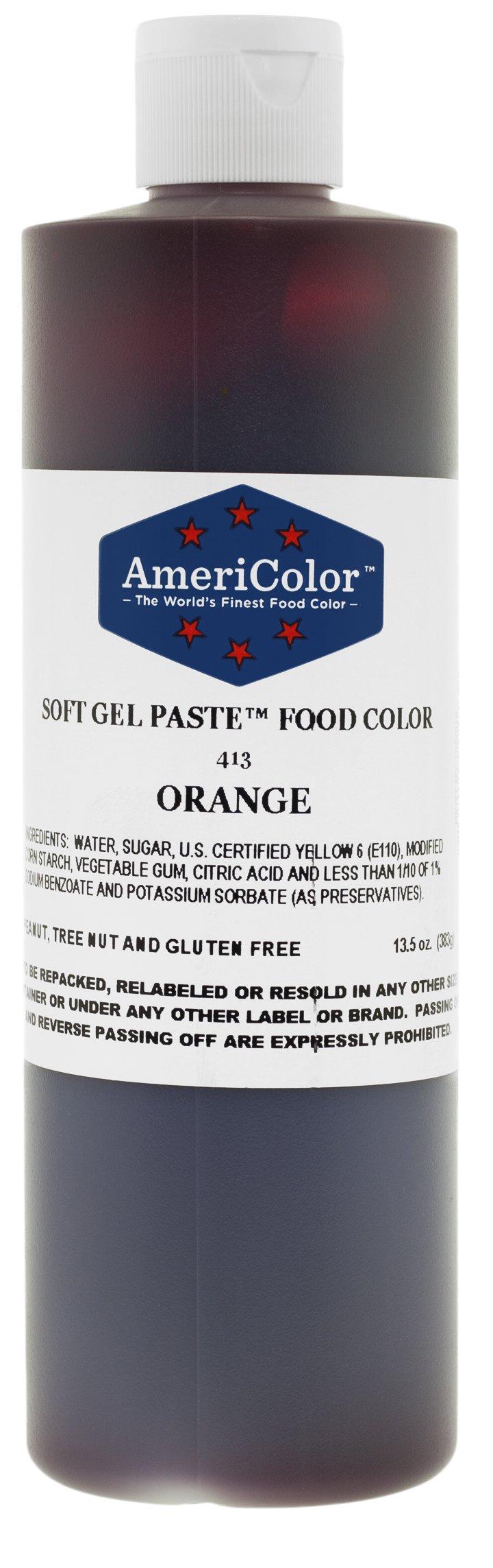 ORANGE 13.5 Ounce Soft Gel Paste Food Color