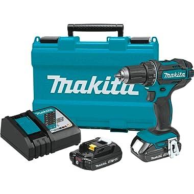 Makita XFD10R 18V Compact Lithium-Ion Cordless 1/2  Driver-Drill Kit