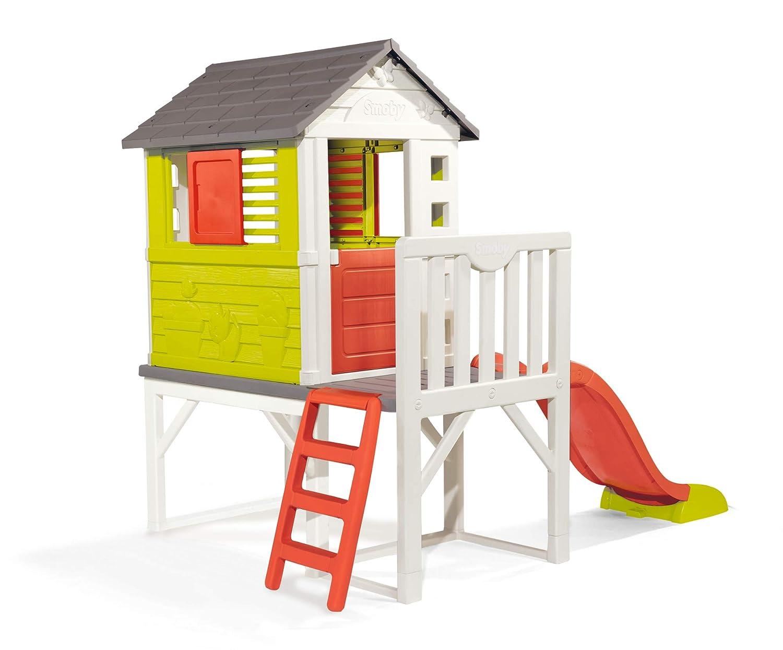 Spielhaus mit Rutsche Kunststoff - Stelzenhaus Kunststoff