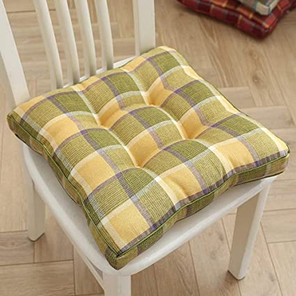 Nxw Chair Cushions Seat Pads For Dining Chairs Kitchen Outdoor Seat Pad Cushion Living Room Patio Garden Office Shop Yellow Amazon Co Uk Kitchen Home