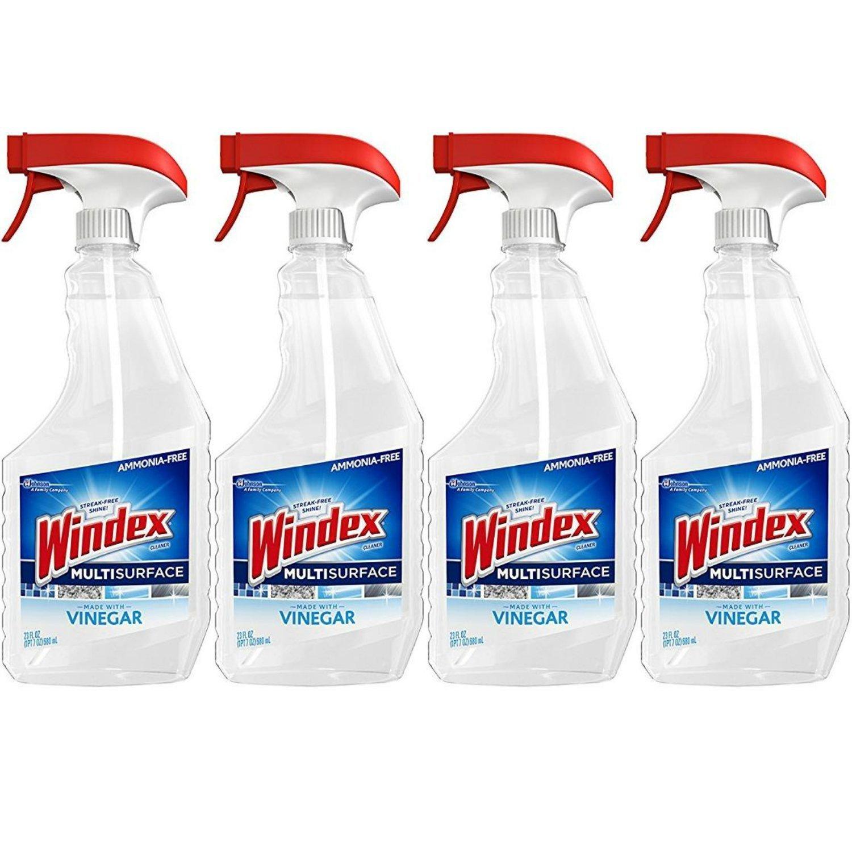 Windex Vinegar Multi-Surface Cleaner Trigger, 4 ct, 23 fl oz