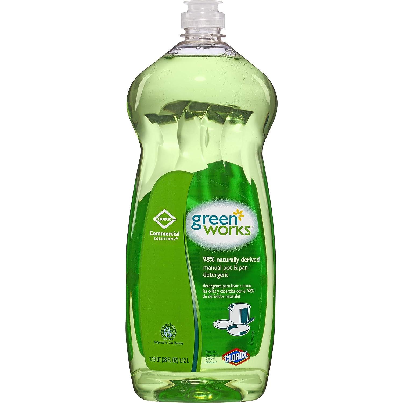 Green Works Manual Pot & Pan Dishwashing Liquid, 38 Ounces (30381)