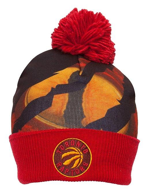 cbf400f78d0 Mitchell   Ness NBA Sublimation Beanie w  Pom - Toronto Raptors  Amazon.ca   Sports   Outdoors