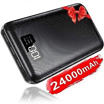 KEDRON 24000mAh Power Bank Cargador Móvil Portátil Batería Externa con Entrada Doble y 3 Puertos de Salida USB y Pantalla Digital para Smartphones, ...