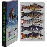 "Modenpeak Fishing Lures for Bass 3""-5"" Multi Jointed Swimbaits Slow Sinking Hard Lure Fishing Tackle Kits Lifelike"