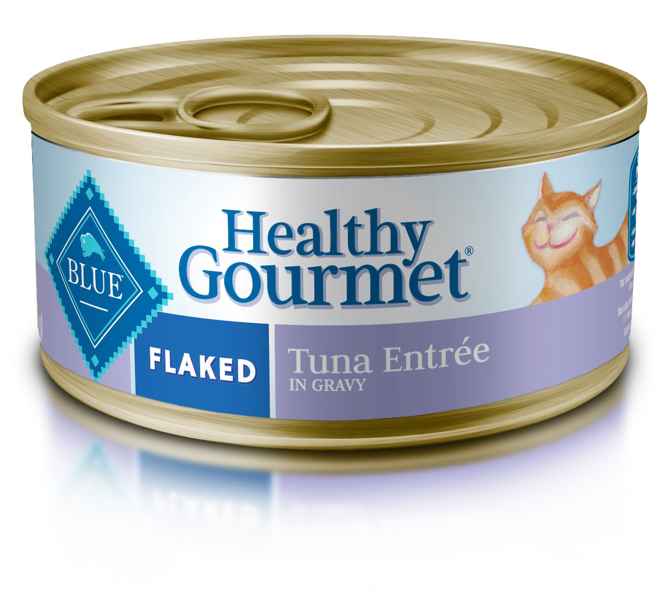 Blue Buffalo Healthy Gourmet Natural Adult Flaked Wet Cat Food, Tuna 5.5-oz cans (Pack of 24) by Blue Buffalo