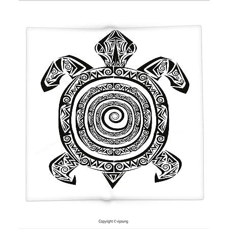 Manta de Custom printed con tortuga por maorí tatuaje estilo ...