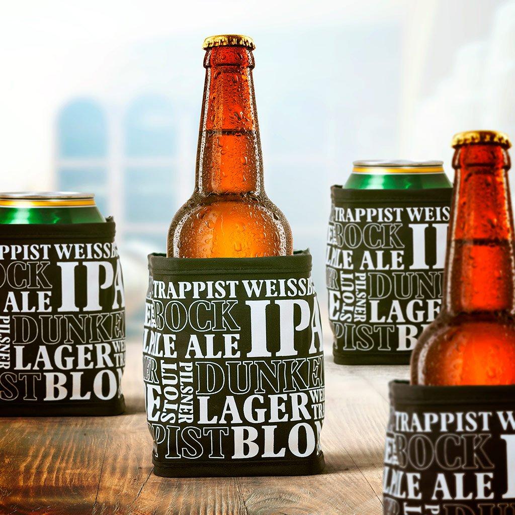 Compra Balvi - World of Beers Enfriador de latas, Enfriador de Cerveza, Enfriador de Bebidas. Set de 4 Unidades. en Amazon.es