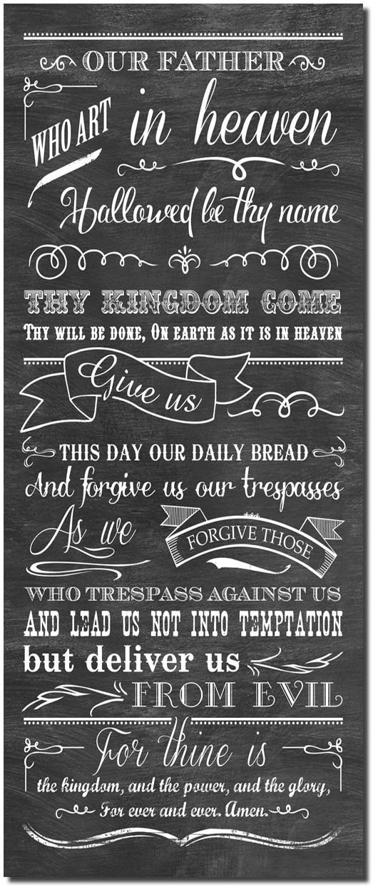 "The Lords's Prayer ""Our Father Which Art In Heaven"" Religious Wall Picture Art Print; One 8x18in Poster Print"