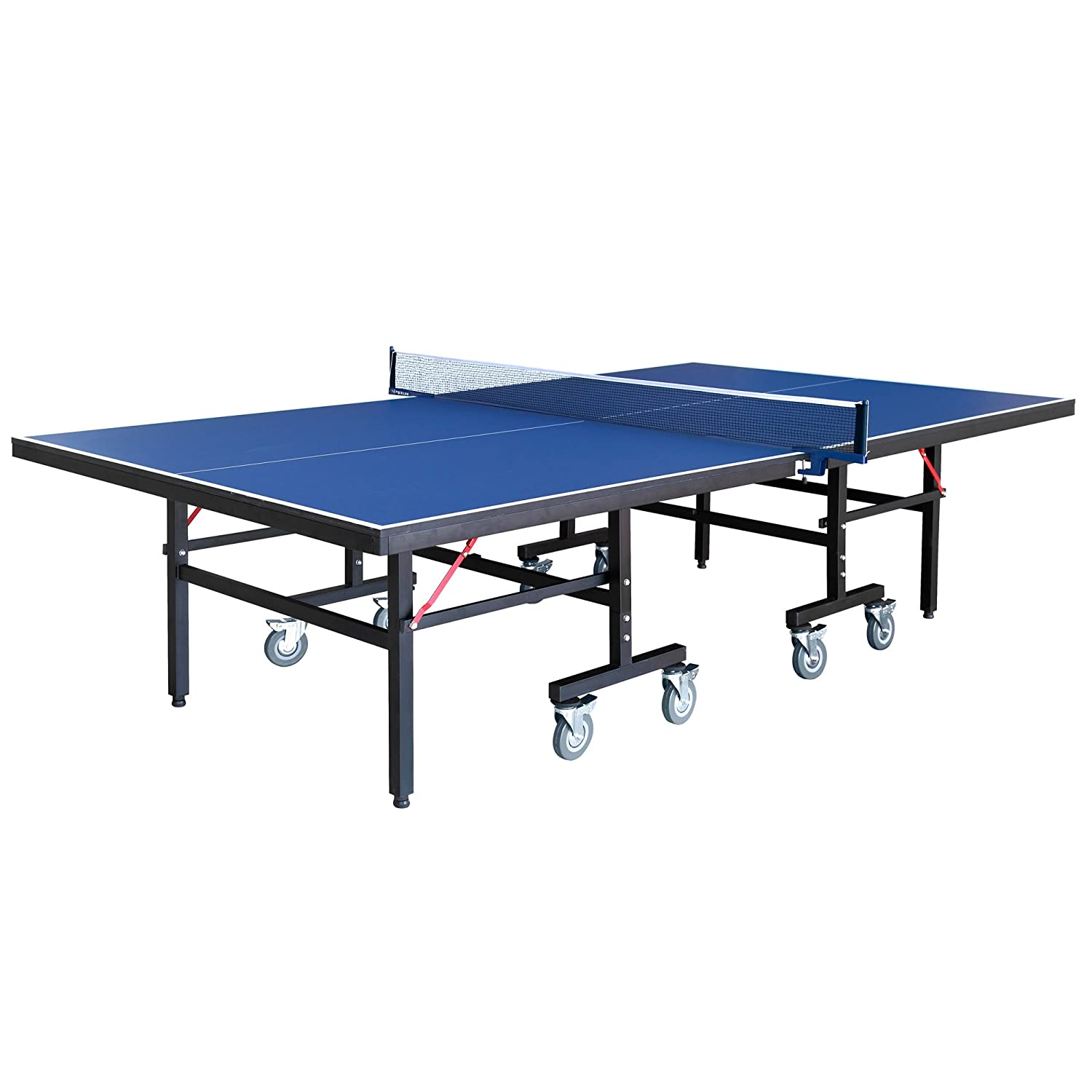 Amazon.com : Hathaway Back Stop 9 Foot Table Tennis For Family Game Rooms  With Foldable Halves For Individual Play Includes Net, Paddles, Balls :  Sports U0026 ...