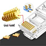 RJ45 Cat6 Cat5 Connector Gold Plated 8P8C