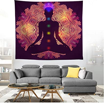 Amazon.com: zhj888 3D Hand Yoga Wall Hanging Bohemian ...