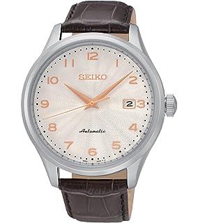 Seiko Reloj Analógico para Hombre de Automático con Correa en Cuero SRP705K1