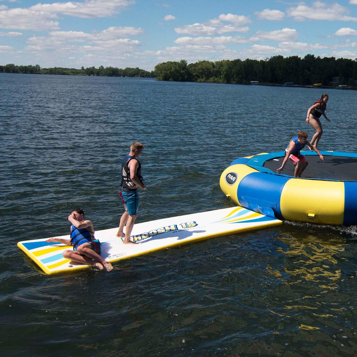 RAVE Sports Water Whoosh 15' Inflatable Water Activity Mat for Playing and Sliding
