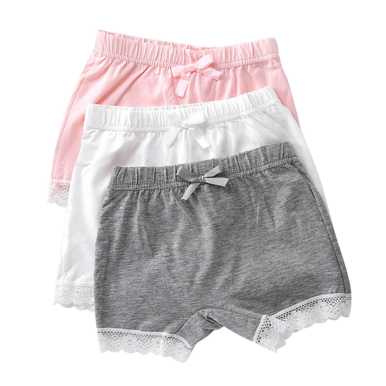 Evelin LEE 3 PCS Kids Girls Lace Knickers Boxer Briefs Underwear Boyshort Underpants 05BFA0388-CA-ZL