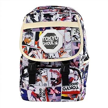 Yoki Lee Anime japonés Unisex ligero mochila escolar bolsa de hombro mochila para adolescentes, Tokyo Ghoul (Multicolor) - DMS33: Amazon.es: Equipaje
