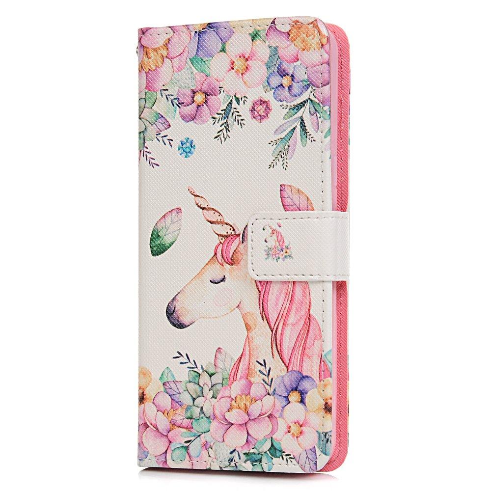 Funda de piel sintética para Samsung Galaxy S8, con ranuras para tarjetas de identificación, función atril, cierre magnético, funda con tapa para Samsung Galaxy S8, Butterfly Tophung