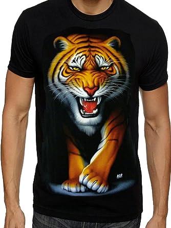 a6b1dc6900be Mens Tiger T Shirts Indian Bengal Tiger White Snow Tiger Cubs T shirts FREE  P P  Amazon.co.uk  Clothing