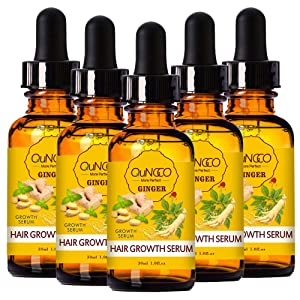 5 PACK Hair Growth Serum Liquid Hair Loss Treatment for Women & Men Dense Thicken Hair