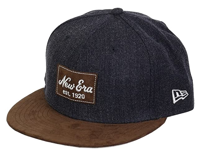 New Era Basecap 59fifty Basecap Heather Suede Heather Navy Brown Wild  Leather - 6 7 5eb53ae54b