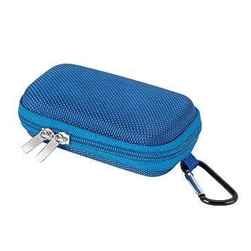AGPTEK BC Duradera Cubierta Estuche para organizar MP3 Reproductor y Auriculares, Soporte con mosquetón de Metal, Color Azul