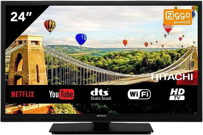 Hitachi 24HE2100 Televisor 24 LCD Direct Led HD Ready Smart TV 200Hz HDMI USB Grabador y Reproductor Multimedia