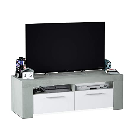 Habitdesign 016621L -Mueble de Comedor Moderno, modulo TV Salon, Modelo Ambit, Color Medidas: 120 cm x 40 cm x 42 cm de Fondo