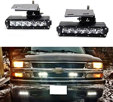 [TVPR_3874]  Amazon.com: iJDMTOY LED Light Bar Fog Lamps Compatible With 99-02 Chevrolet  Silverado 1500 2500, 00-01 3500, 00-06 Suburban Tahoe, Includes (2) 30W  CREE LED Light Bars, Fog Light Brackets & Wiring On/Off Switch: Automotive | 2002 Silverado Fog Light Switch Wiring Diagram |  | Amazon.com