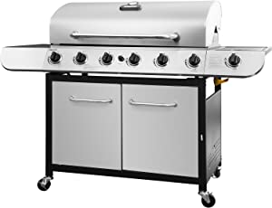 Royal Gourmet SG6002 Cabinet Propane Gas Grill, 6-Burner, Stainless Steel