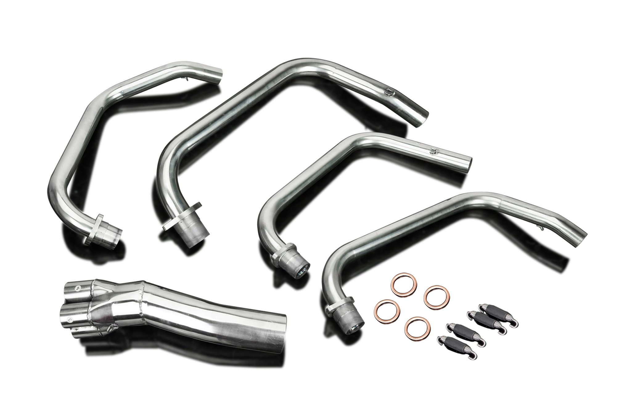 Honda CB550F Supersport 4-1 Stainless Steel Header Exhaust Downpipes Manifold 74 75 76 77 by Delkevic
