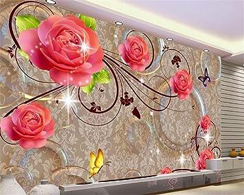 Lqwx Wallpaper Schöne Jade Geschnitzte Starlight Rose TV Schlafzimmer  Zimmer Hintergrund Dekoration Malerei Leben Papel De