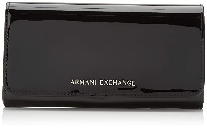 Armani Exchange - Wallet With Stud, Carteras Mujer, Negro ...