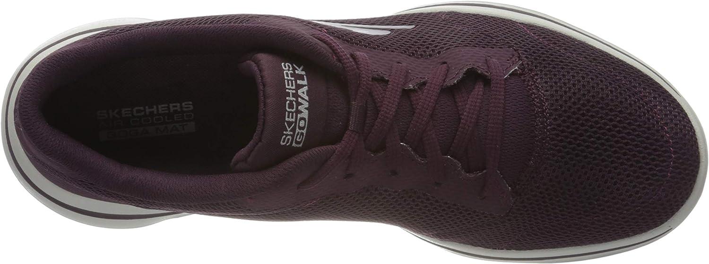 Skechers Go Walk 5-Lucky sneakers voor dames Rood Burgundy Textile Trim Burgundy