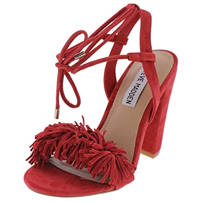 8df71049401 Image Unavailable. Image not available for. Color  Steve Madden Women s  Sass Red Suede Heels 5M