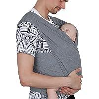 Lictin Fular Portabebés Elástico Gris Portador de Bebé