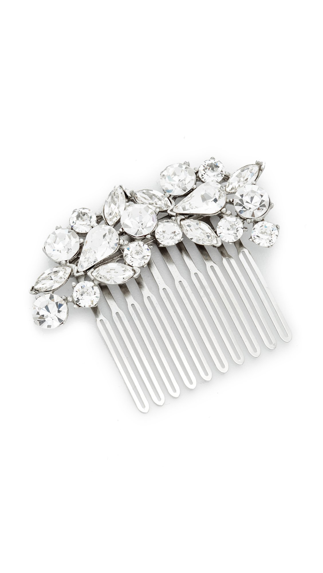Ben-Amun Women's Crystal Cluster Hair Comb, Clear/Silver, One Size