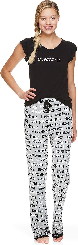 New BEBE Logo Red Sleepwear Pajama Pants Bottoms Womans Size Small and Medium