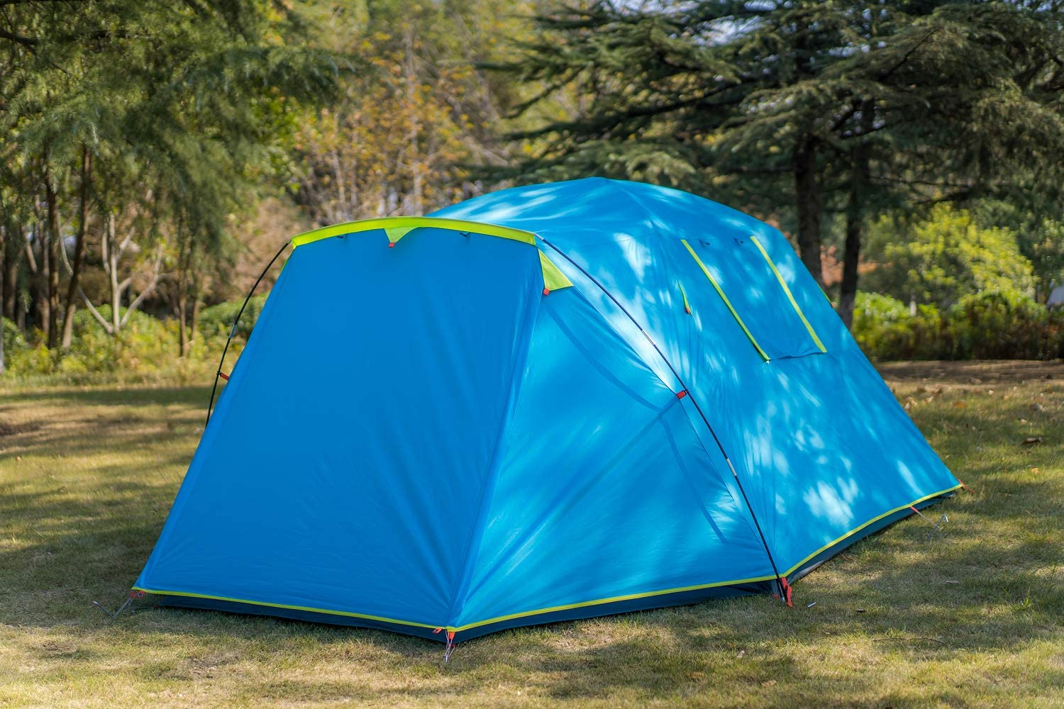KAZOO Outdoor Camping Tent Durable Waterproof Family Large Tents 4 Person E...