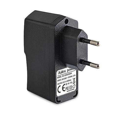 Aukru USB charger Cargador de pared Adaptador 5V 2A universal para telefono, tablet, Raspberry Pi B+, ...
