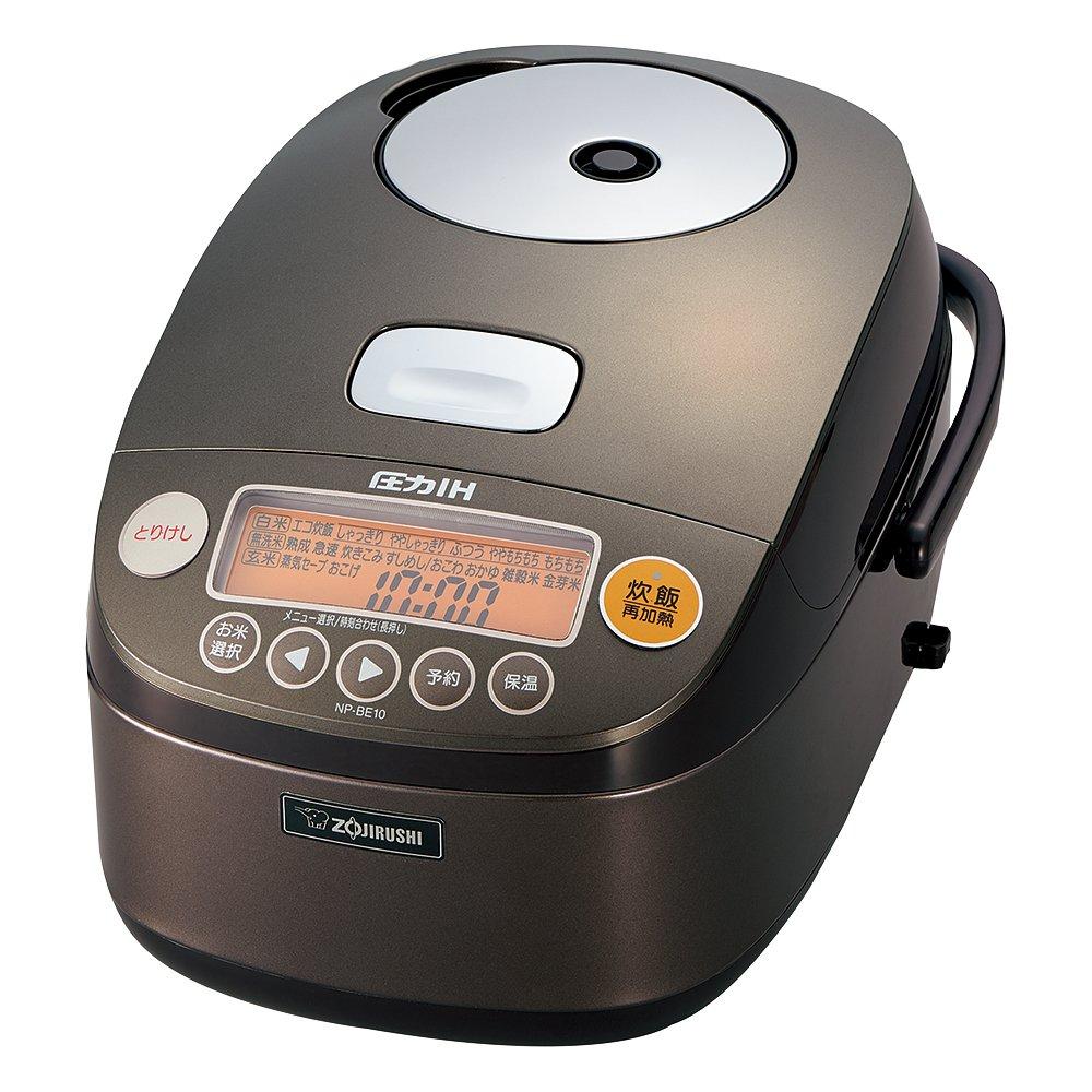 Zojirushi IH Pressure Rice cooker Iron coat Platinum Atsukama 5.5 Go Dark Brown NP-BE10-TD